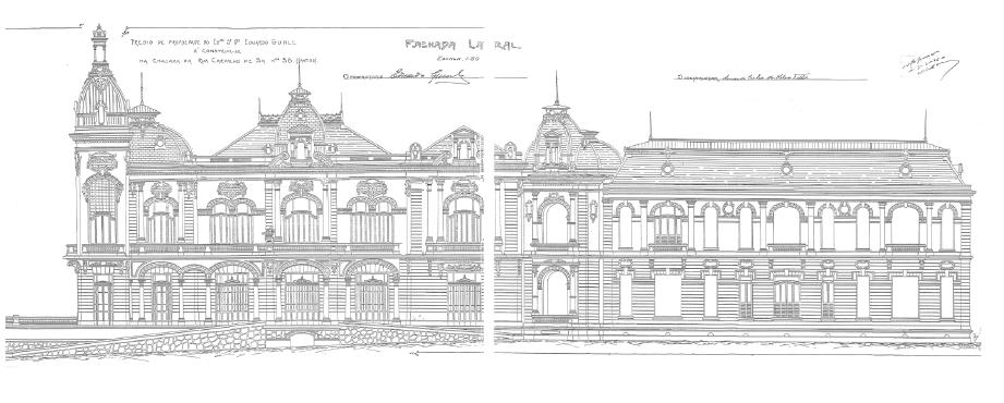 Elevação do Projeto Original referente à Fachada Lateral